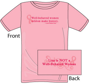 New customize your own ladies breast cancer awareness t for Website where you can design your own shirt