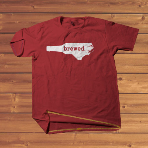brewed t-shirt Southern Red Cotton of the Carolinas T-shirt