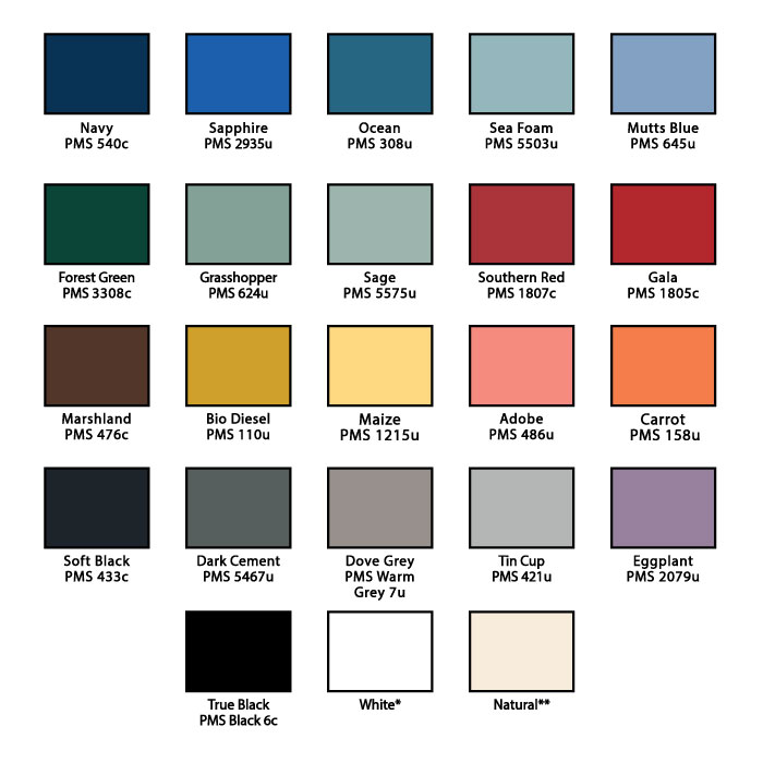 individual color swatches ts designs